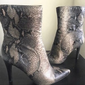 Nine West Snakeskin Booties